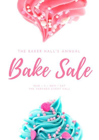bake sale template pink white feminine bake sale flyer templates by