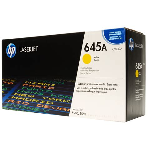 Tinta Printer Hp Deskjet Toner Hp Laserjet 645a C9732a Yellow Original