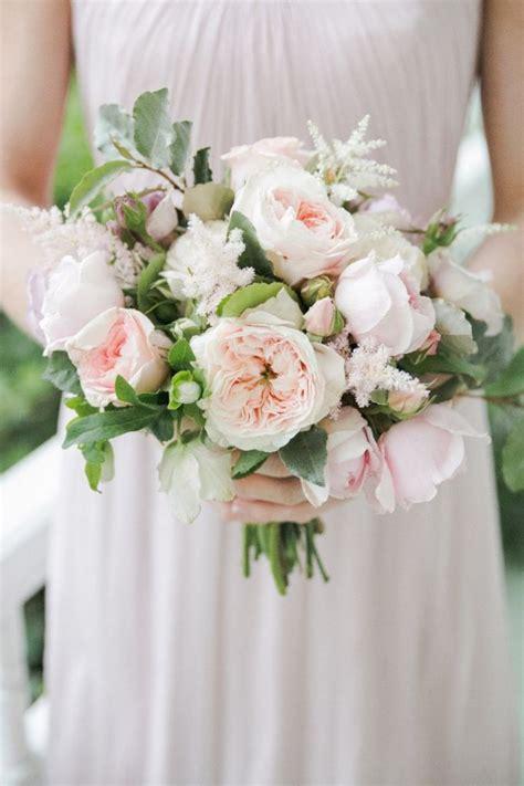 Blush Wedding Theme Blush Garden Rose Bouquet Garden Wedding Flowers
