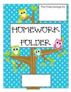 1000 images about homework folders on work