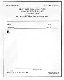 Prescription Blank Template by Free Prescription Template Prescription Pads