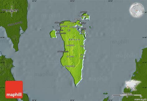physical map of bahrain physical map of bahrain darken