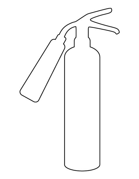 Fire Extinguisher Pattern Use The Printable Outline For Extinguisher Coloring Page