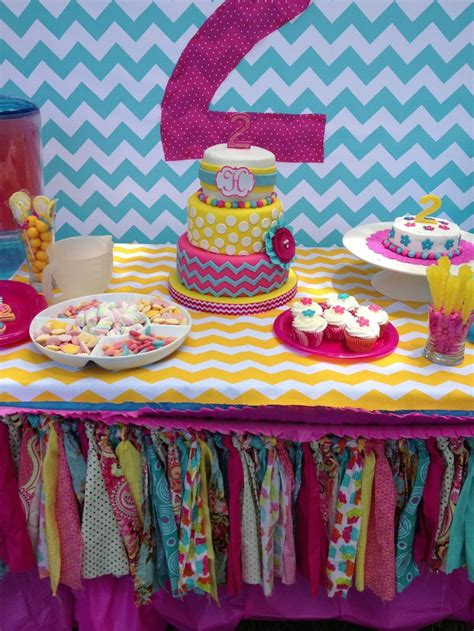 pink yellow and aqua chevron s 1st birthday
