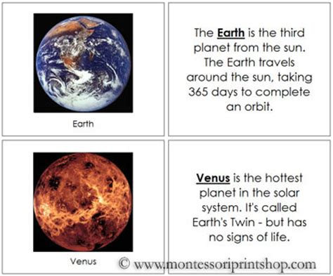 planet trading cards template solar system flash cards printable page 2 pics about space
