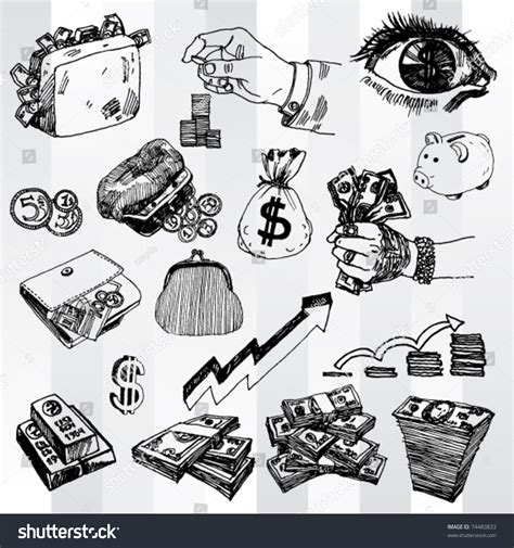 doodle money some doodles on money theme stock vector 74483833