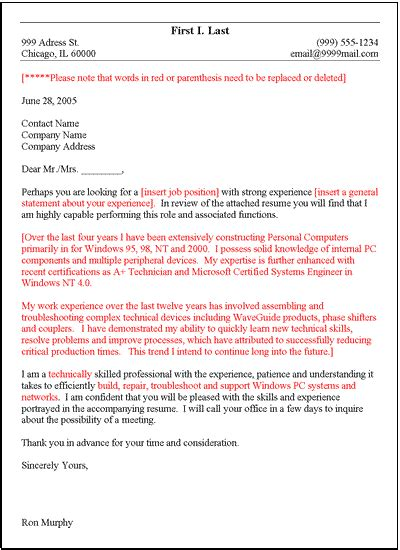 general cover letter template microsoft word format
