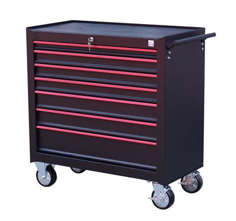Metal Storage Drawers On Wheels by Heavy Duty Tool Storage Cabinet Box Steel Chest 7 Drawers