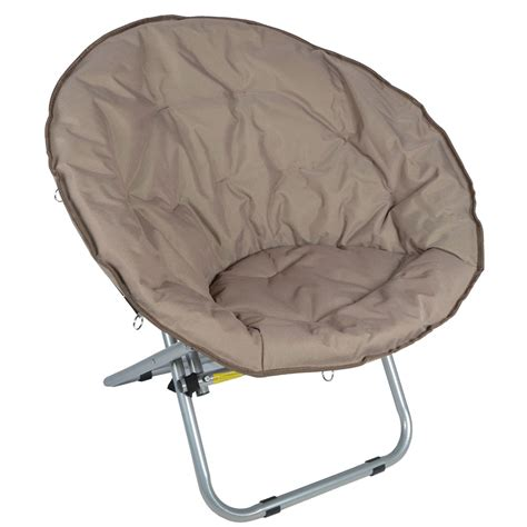 Moon Chair 2 X Azuma Deluxe Padded Folding Moon Chairs Cappuccino Ebay