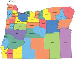 oregon map by county oregon map