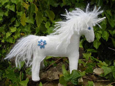 felt pattern unicorn echos of a dream white felt unicorn free pattern