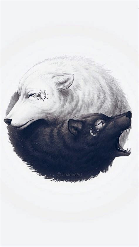 yin yang wolf yin yang and tattoo