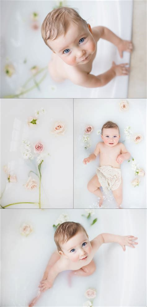 Baby Milk Bath photography for bellini portraits