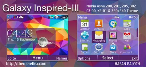 galaxy themes for nokia c3 galaxy inspired iii live theme for nokia x2 00 x2 02 x2