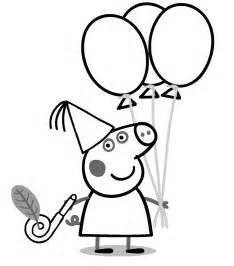 peppa pig coloring page peppa pig birthday coloring page az coloring pages
