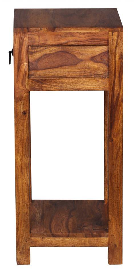 Schublade 30 X 30 by Wohnling Beistelltisch Massiv Holz Sheesham 68cm Hoch