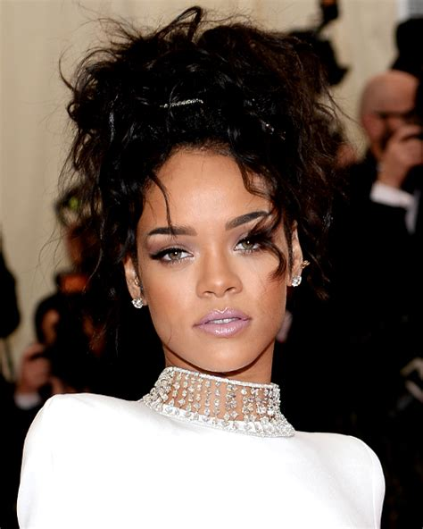 Rihanna Updo Hairstyles by Pictures 2014 Met Gala Hairstyles Rihanna