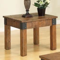 Decorative Side Tables by Antique Style Wood End Table With Decorative Metal