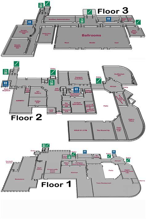 student center floor plan floor plan nmsu corbett center student union new