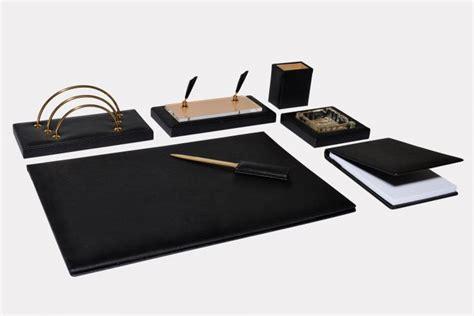 set per scrivania set scrivania 7 pz in pelle quot gemini quot made in italy orna