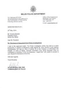 cola demands penner file from police commissioner belize