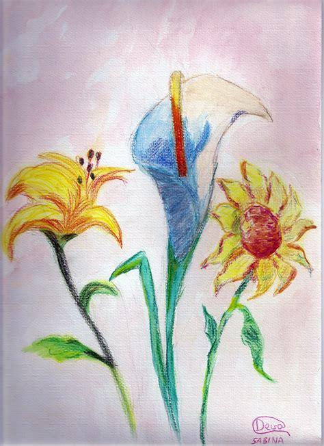 imagenes a lapiz flores dibujos de flores a lapiz de color imagui