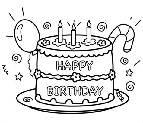 custom happy birthday coloring pages 9 happy birthday coloring pages free psd jpg gif