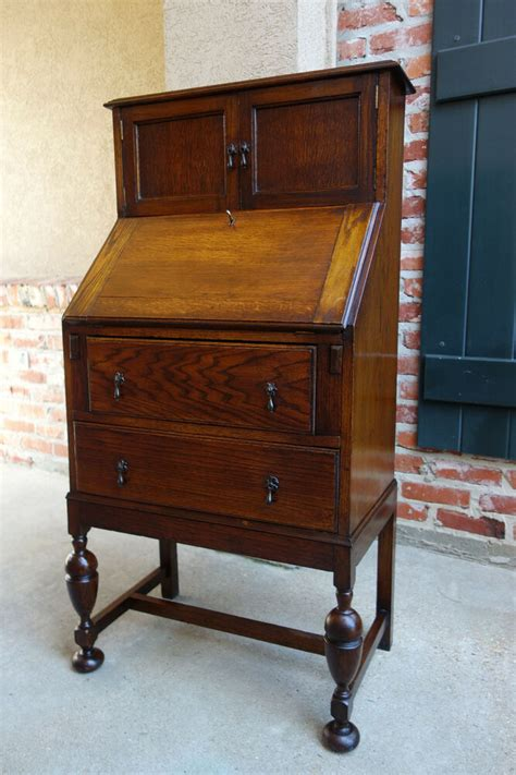 Antique Tiger Oak Desk by Small Antique Tiger Oak Desk Drop Front Bureau