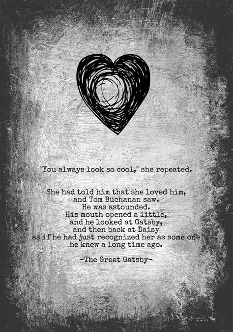 The Great Gatsby - Love Quotation Art Print - 5x7 - F