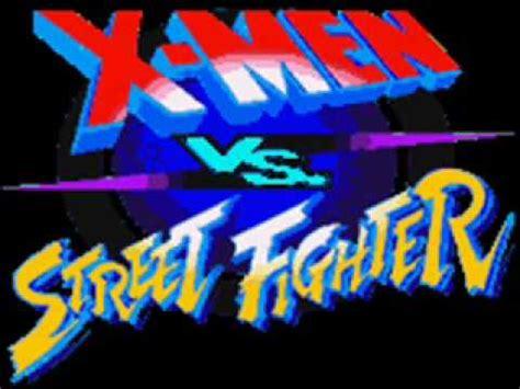 x men vs street fighter win screen youtube
