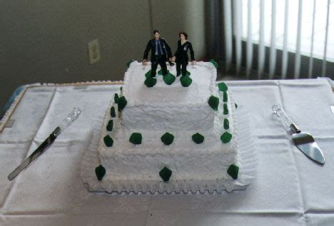 X Files Wedding Cake by Our Wedding