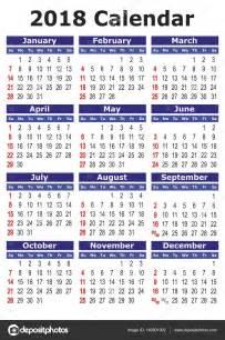 Kalendar Za 2018 Jednoduch 233 Vektorov 233 Kalend 225 ř 2018 Stock Vektor