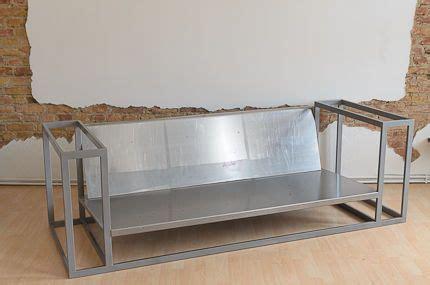 couch sheet metal metal sofa furniture pinterest