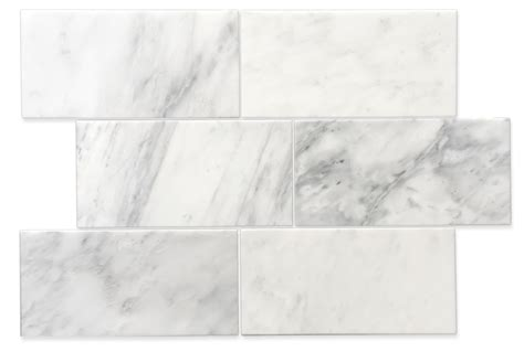 carrara pietra marble honed 6x12 quot subway floor and wall tile