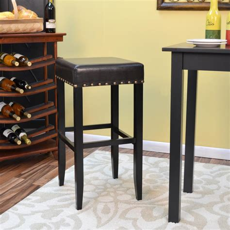 home decorators collection 30 in red cushioned swivel bar home decorators collection 30 in black cushioned swivel