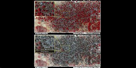 imagenes satelitales recientes im 225 genes satelitales muestran la destrucci 243 n de boko haram