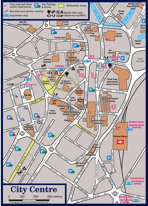 map of city centre particle physics and astronomy international undergraduate
