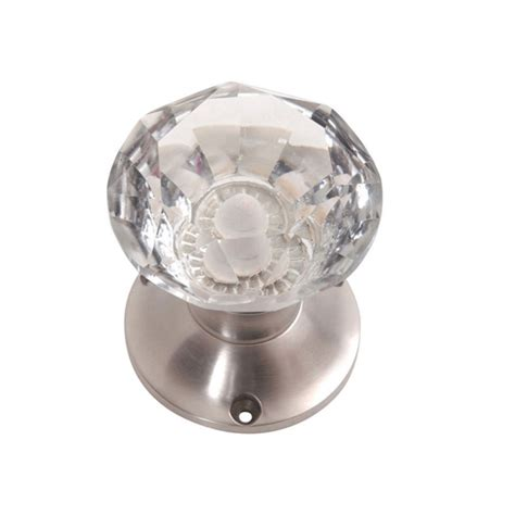 Turning Door Knobs glass turning faceted door knobs clear pair knobs homeware