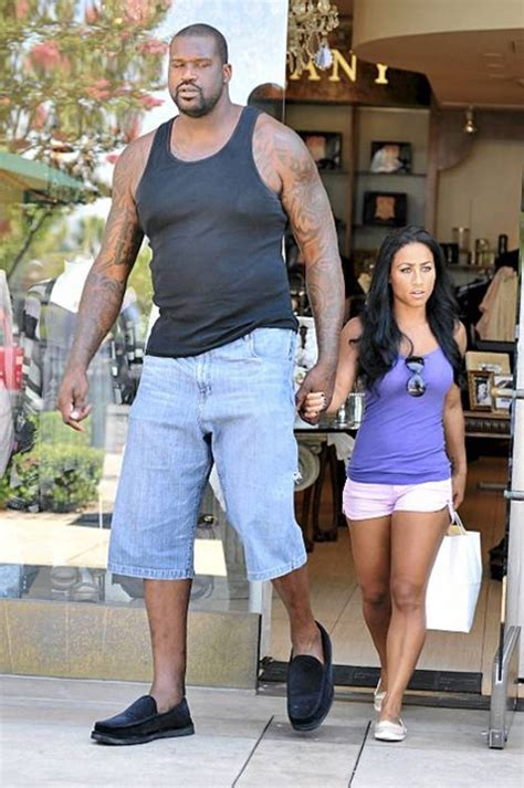 shaquille o neal hangs out with 7 4 quot tall 12 year old
