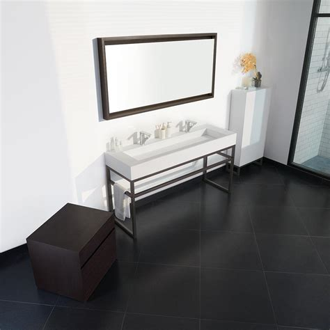 bathroom console 63 quot marco metal bathroom vanity console for double sink