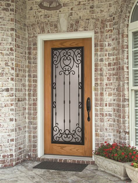 Iron And Glass Front Doors Wrought Iron And Glass Front Entry Door Designs Zabitat