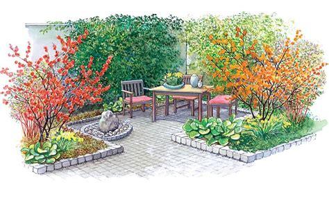 Mein Schoener Garten 4466 by Zum Nachpflanzen Farbenfroher Gartenhof Sonnenstrahlen