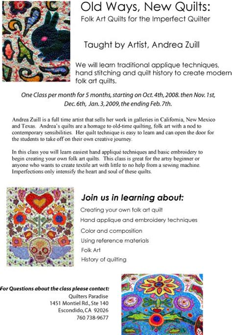 Quilting Classes San Diego by August 171 2008 171 Andrea Zuill S