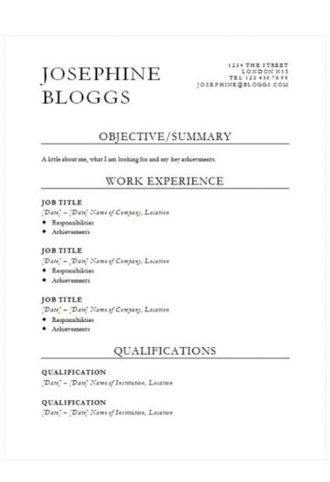cv template free word uk how to write a cv cv templates guides and advice r 233 sum 233 templates