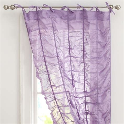 ruched curtain ruched drape lilac contemporary curtains by pbteen