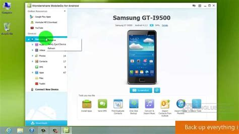 backup android to pc android backup back up your samsung galaxy s4 to pc or restore a backup stored on pc