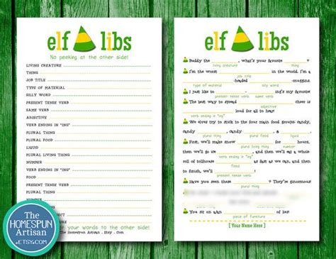 printable christmas movie games elf libs movie quotes printable christmas party game