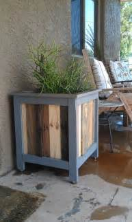 reclaimed wood planter box renovating our house