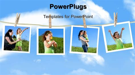 Powerpoint Template Family Depictions Hanging On A Family Powerpoint Templates
