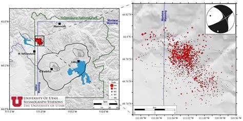 earthquake yellowstone ongoing yellowstone earthquake swarm north of west